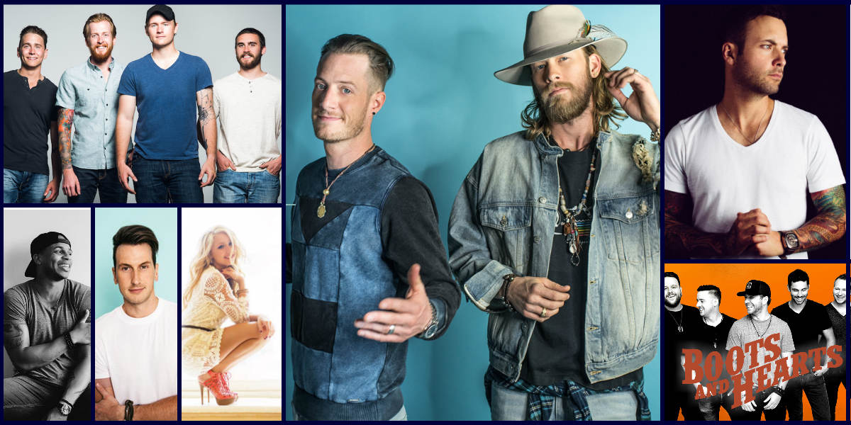 Boots & Hearts 2018 Friday schedule with Florida Georgia Line, Dallas Smith, Madeline Merlo, James Barker Band, Russell Dickerson, River Town Saints, Jimmie Allen