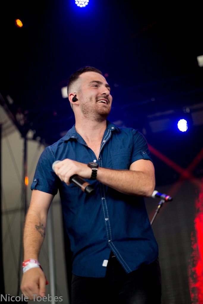 Kris Barclay performing at Boots & Hearts Emerging Artist Showcase in 2018