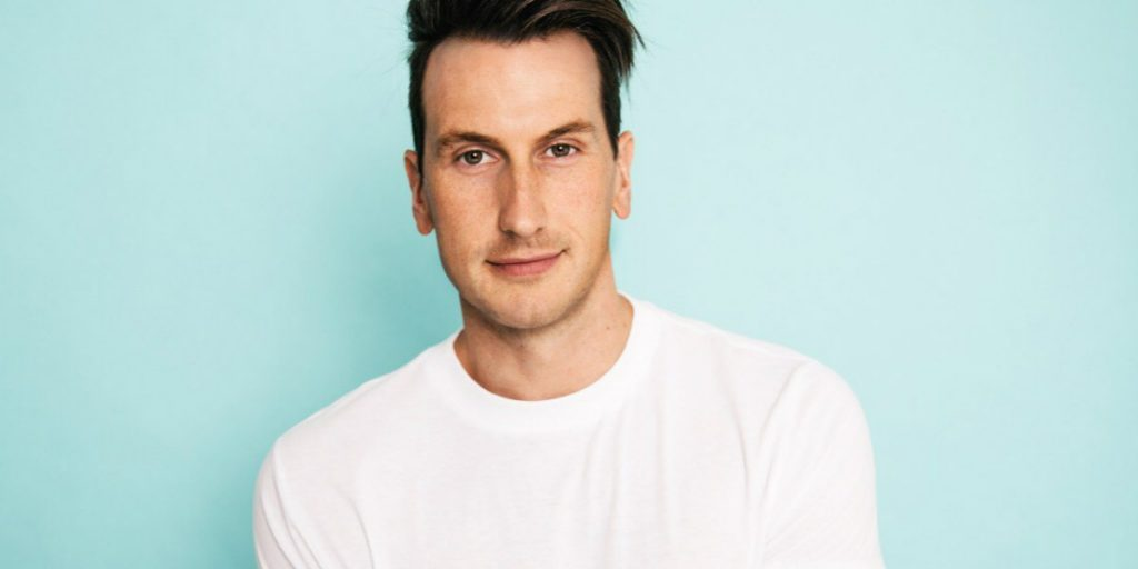 Russell Dickerson performing at Cavendish Beach Music Festival