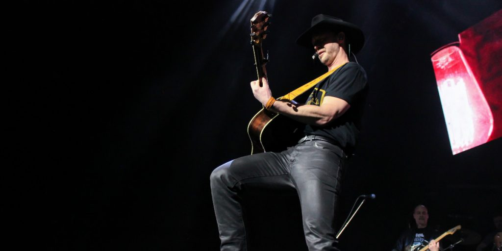 Canadian Country Artist Paul Brandt Playing Guitar