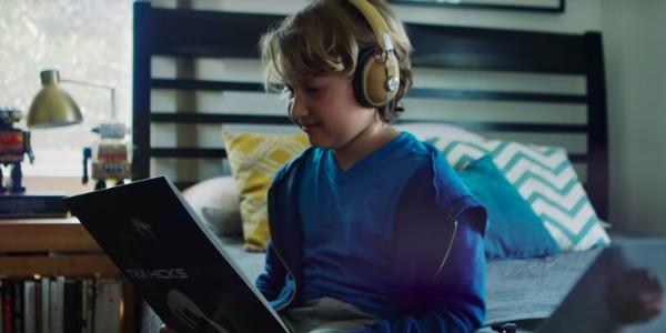 Boy listens to Tim Hicks' album on vinyl