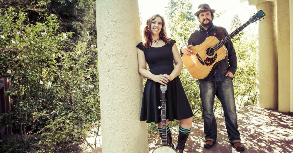 Cara Luft and JD Edwards from Roots band The Small Glories