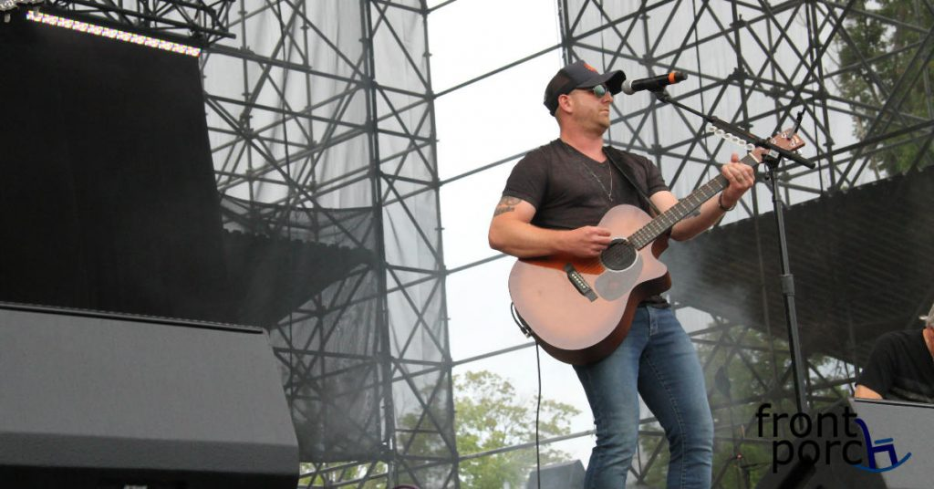 Tim Hicks playing the guitar