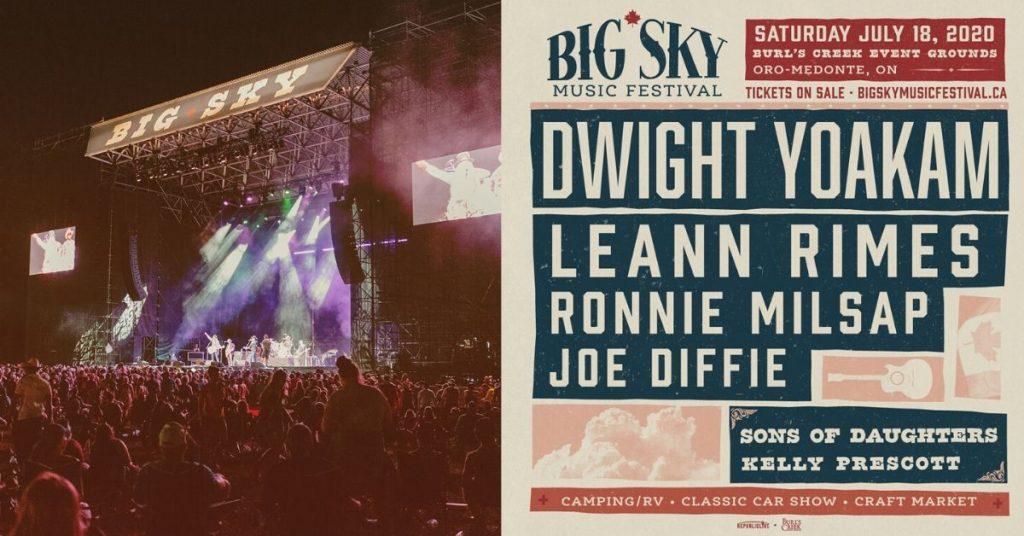 Lineup for the 2020 Big Sky Music Festival