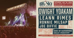 Lineup for the 2020 Big Sky Music Festival