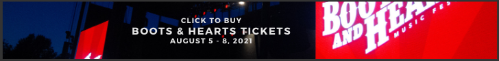 Tickets for the 2021 Boots & Hearts Music Festival