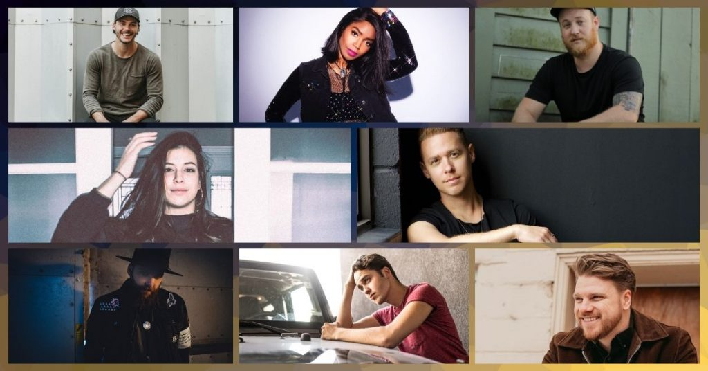 A group of emerging Canadian country artists in 2021
