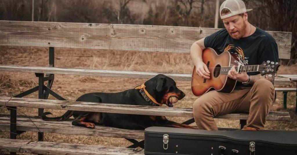 Brian John Harwood and his dog Lincoln
