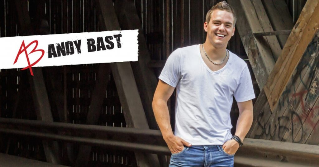 Andy Bast is one of the finalist of the Boots and Hearts Emerging Artist Showcase