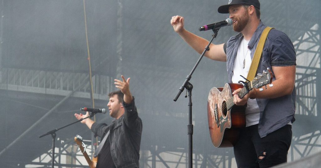 Buck Twenty performing on the Boots & Hearts Stage