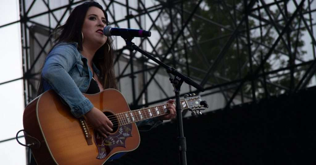 Mallory Johnson performing on the Boots & Hearts Stage