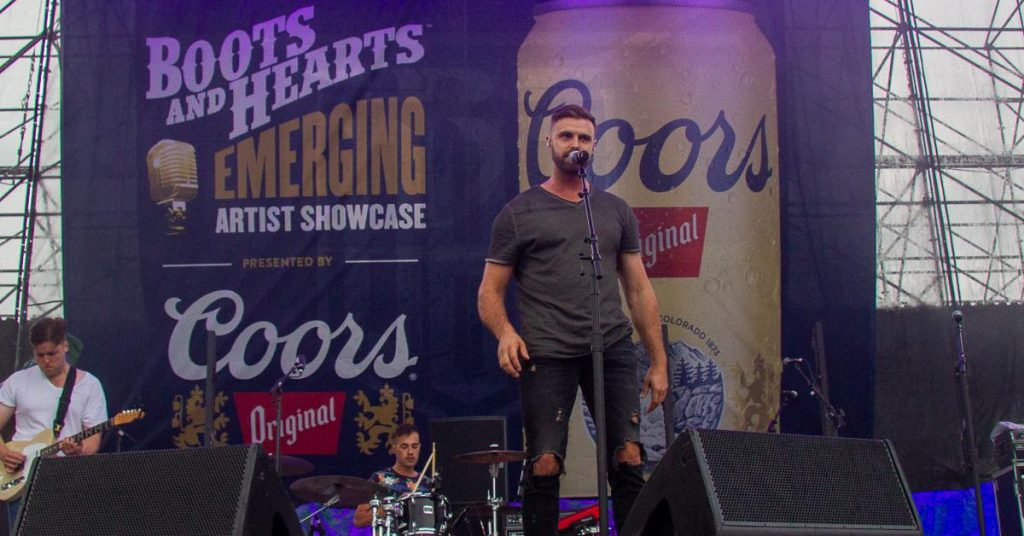 Mike Whiteside at the Boots & Hearts showcase