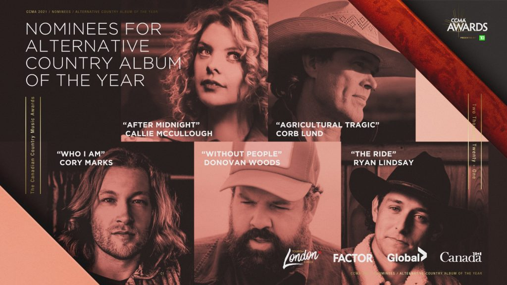 Nominees for the 2021 CCMA Award for Alternative Album of the Year