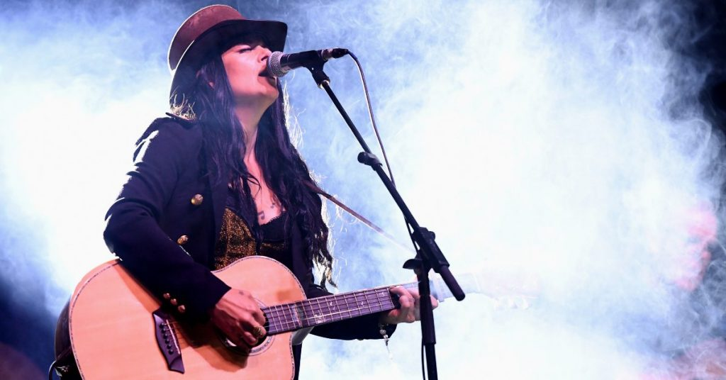 French Country artist Reney Ray performing at the 2021 CMAO Awards